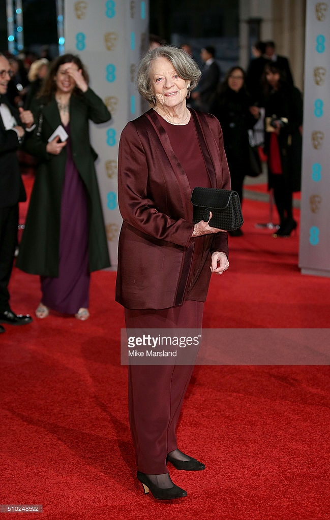 attends the EE British Academy Film Awards at The Royal Opera House on February 14, 2016 in London, England.
