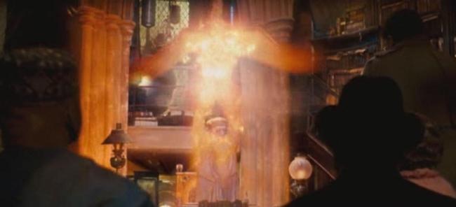 --Albus_Dumbledore--_using_Fawkes_to_teleport_away_from_--Cornelius_Fudge--_and_--Doleres_Umbridge--