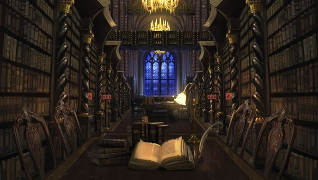 Hogwarts-Library