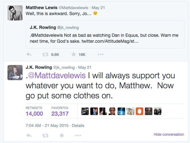 j.k. rowling matthew lewis
