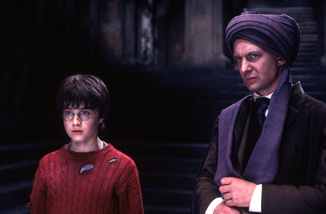 quirrell ve harry potter